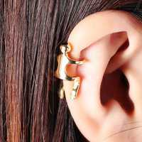 1Pc Gold Silver Color Human Wrap Cartilage Earrings