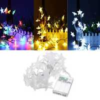 Battery Powered 3.3M 30LEDs Frosted Five Stars Fairy String Light Christmas Wedding Decor Lamp