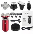 Meilleurs prix 5 in 1 Multifunctional Men Electric Shaver Rotary Bald Head Shaver Beard Nose Hair Trimmer
