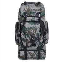 Outdoor Nylon Backpack Rucksack Tactical Climbling Hiking Trekking Camouflage Bag Pack