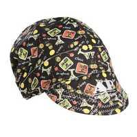 56cm to 64cm Adjustable Sweat Absorption Elastic Welding Hat Cap Helmet Soft Cotton Happy Hour