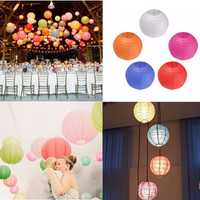 10pcs 15cm Colorful Paper Lantern for Christmas Wedding Party Home Decoration