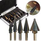 Meilleur prix Drillpro 5pcs Hss Cobalt Step Drill Bit Set Multiple Hole 50 Sizes with Aluminum Case