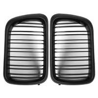 Pair Matte Black ABS Front Kidney Grille For BMW E36 1997-1999