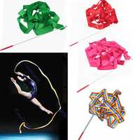 4M Gymnastic Art Streamer Ballet Dance Ribbon with Twirling Rod