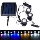 Promotion Solar Powered 3 Underwater Spotlights Waterproof IP68 LED Outdoor Garden Pool Pond Landscape Lights