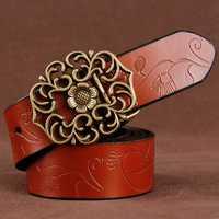 110CM Women 100% Second Layer Belt Cow Genuine Leather