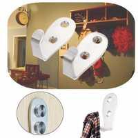 2mm or 3mm Stainless Steel Holder Hook Hanger Rack Towel Kitchen Bathroom Wall Door