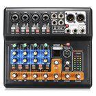 Recommandé Portable 8 Channel Professional Live Studio Audio KTV Karaoke Mixer USB Mixing Console 48V