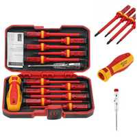 Raitool 13Pcs 1000V Electronic Insulated Screwdriver Set Phillips Slotted Torx CR-V Screwdriver Repair Tools
