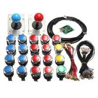 Arcade LED MAME 2 Player USB Bundle Kit 2 Joysticks 4 And 8 way 20 Push Buttons
