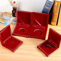 10-75mm Wooden Single Coin Display Storage Case Coin Collecting Box For Coins Medals