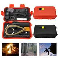 Outdoor 7 In 1 EDC Survival Tools Case SOS Emergency Multifunctional Kits Box Camping Hiking