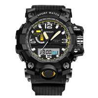 SANDA 732 Fashion LED Display Men Watch 30M Waterproof Sport Digital Watch