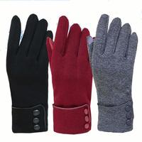 Women Unisex Warm Touch Screen Fleece Gloves No-Slip Cycling Outdoor Windproof Ski Gloves