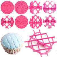 9pcs Sugarcraft Cup Cake Fondant Cake Embosser Tool Cutter Icing Decorating Mould