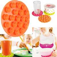 Kids Baby Bowl Pad Milk Bottle Silicone Magical Anti Slip Meal Suction Mat Kitchen Dishes Dinnerware Cook Tool