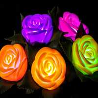 Colorful LED Simulation Rose Flower Wedding Valentines Party Decoration Gift