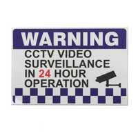 100x150mm Internal Warning CCTV Security Surveillance Camera Decal Sticker