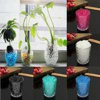 Water Plant Flower Crystal Soil Mud Pearls Gel Beads Jelly Ball Wedding Decor