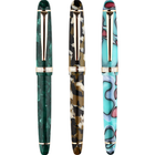 Meilleurs prix MoonMan S3 Multicolor Resin Fountain Pen 0.5mm F Nib Golden Adult Student Writing Signing Pen Gift