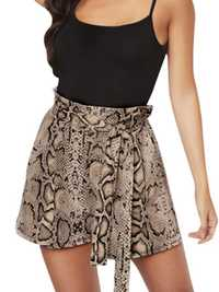 Women High Waist Snake Printed Shorts