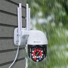 Acheter au meilleur prix DIGOO DG-P05 MINI 18 LED 1080P 2MP 360° PTZ Smart WIFI Speed Dome Camera Red+Blue Lights Adjustable HD Outdoor IP66 Waterproof Motion Alarm Security Monitor