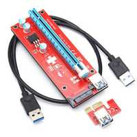 0.6m 6 Pin PCI-E Express 1X TO 16X Extender Riser Board Adapter Card Cable for Mining