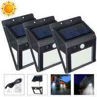 30/40/50 LED Outdoor Human Body Induction Solar Wall Lamp Waterproof IP44 Solar Motion Sensor Lights