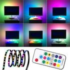 Recommandé 1M 2M 3M WS2812 SMD5050 Black PCB Non-waterproof USB LED Strip Light+17 Keys Remote Control DC5V