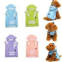 Pet Dog Puppy Cat Outdooors Hooded Rain Coat Waterproof Clothes Dog Coat Jacket Apparel