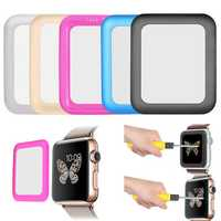 38mm Link Dream 0.2mm Metal Full Covered Tempered Glass Screen Protector Film For Apple Watch