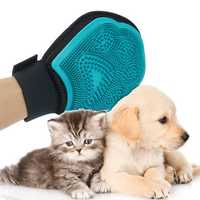 Pet Grooming Gloves Massage Mitt Hair Removers Fur Collecting Shedding Tools for Dog & Cat