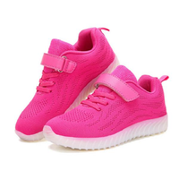 Kids Light Up LED Sport Shoes Girls Boys Mesh sneakers Flash Shoes