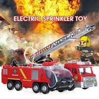 Truck Engine Toy Water Jet Vehicle Diecast Model Lights Sound For Kid Birthday Gift