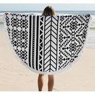 Acheter au meilleur prix 150cm Pure Cotton Bohemia Roud Tassel Knitted Beach Towel Lantern Towel Home Blanket