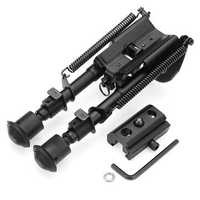 Adjustable Tactical Bipod 6-9 inches Spring Loaded Sling Swivel Notch Leg Stud Mount