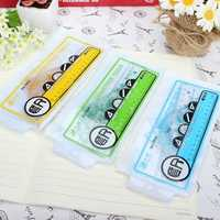 4 Pcs Catoon Rulers Set For Home Office Scool Student Drawing Random