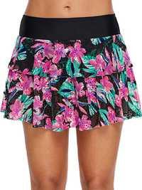 High Waist Skirt Lace Swimwear Panty For Women