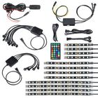 Offres Flash 12Pcs Motorcycle 108 LED Atmosphere Under Glow Light RGB Neon Strip Wireless Remote Control