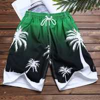 Summer Hawaiian Printing Quickly Dry Beach Board Shorts