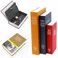 Metal Steel Cash Secure Hidden English Dictionary Money Box Coin Storage Books Safe Secret Piggy Bank