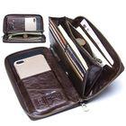 Acheter au meilleur prix Men Multifunction Purse Pen Holder Phone Holder Zipper Pocket Large Capacity Business Wallet