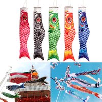100cm Koi Nobori Carp Wind Sock Koinobori Fish Kite Flag Hanging Decor
