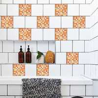 10PCS 20*20CM Mosaic Tiles Stickers Waterproof Stickers Glue Stickers