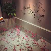 30x60cm Waterproof Wallpaper Bathroom Removable Decals Home Decor Wall Sticker