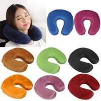 U Shape Memory Foam Pillow Neck Protect Head Rest Travel Soft Cushion