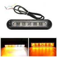 6 LED Car Trailer Boat Emergency Light Bar Hazard Flashing Strobe Warning Lamp