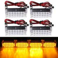 12V 22x4 LED Flash Amber Emergency Light Warning Strobe Auto Lamp