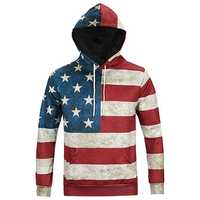 USA Flag 3D Print Hoodies Autumm Winter Fashion Casual Unisex Hooded Sweatshirts
